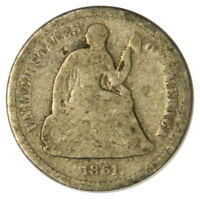 1861 SEATED LIBERTY HALF DIME  G GOOD CONDITION  PRICED RIGHT