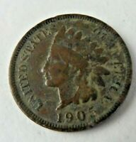 1905 INDIAN HEAD PENNY US ONE CENT CIRCULATED UNGRADED 10970