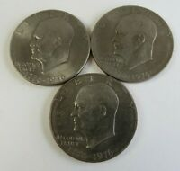 1976 EISENHOWER DOLLAR US COINS LOT OF 3 CIRCULATED UNGRADED 13423
