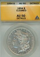 1894-P MORGAN SILVER DOLLAR CERTIFIED ANACS AU50 LOOKS UNCIRCULATED - UPGRADE ?