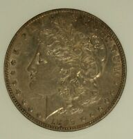 1895-0 MORGAN SILVER DOLLAR. ANACS AU50. LUSTROUS REVERSE AND ATTRACTIVE.
