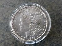1902 O MORGAN SILVER DOLLARBU. A TOTAL OF 8,636,000 COINS WERE MINTED.