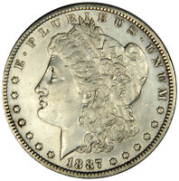 1887-O MORGAN SILVER DOLLAR  AU/UNC ABOUT UNCIRCULATED  PRICED RIGHT