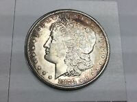 1878-CC MORGAN DOLLAR LY TONED IN ALMOST UNCIRCULATED
