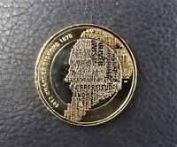 2009 TWO 2 POUND COIN. CHARLES DICKENS. CIRCULATED, POLISHED
