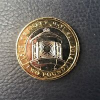 2014 TWO 2 POUND COIN. TRINITY LIGHTHOUSE. CIRCULATED, POLISHED
