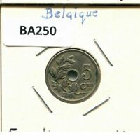 5 CENTIMES 1920 FRENCH TEXT BELGIUM COIN BA250.C