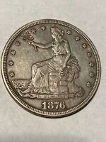 1876 S TRADE DOLLAR TOUGH THIS NICE AVIDLY PURSUED SILVER $