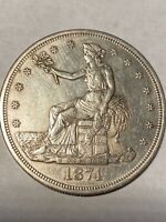 1874 S TRADE DOLLAR EXTREMELY TOUGH THIS NICE AVIDLY PURSUED