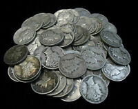 LOT OF 50 MIXED 90  SILVER MERCURY DIMES  1 ROLL  MOSTLY PRE