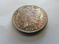 1889 S COLORFUL MORGAN SILVER DOLLAR $1 SAN FRANCISCO MINT COIN TONED MS UNC