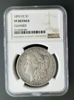 1893-CC $1 KEY DATE NGC VF DETAILS CLEANED