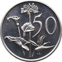 SOUTH AFRICA 50 CENTS 1974 PROOF KM 87