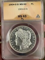 1904-O MORGAN DOLLAR MINT STATE 63PL GREAT MIRRORS. BEAUTIFUL COIN