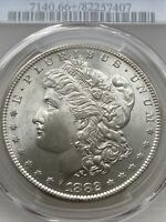 1882 S MORGAN SILVER DOLLAR PCGS MINT STATE 66 - BEAUTIFUL COIN