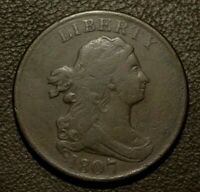 1807 DRAPED BUST HALF CENT     HIGHER GRADE EXAMPLE