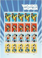 WONDER WOMAN SHEET OF 20 U.S. POSTAGE FOREVER STAMPS NEW MIN