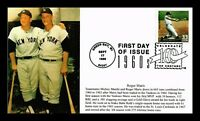 DR JIM STAMPS ROGER MARIS BASEBALL 61 IN 61 FDC HAND MADE S&