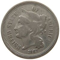 UNITED STATES THREE CENTS 1867 ENGRAVED T156 503