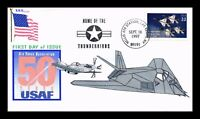 DR JIM STAMPS US COVER US AIR FORCE 50TH ANNIVERSARY FDC LIM
