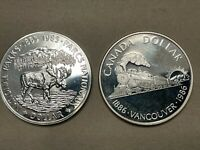 1985 AND 1986 CANADA PROOF LIKE SILVER DOLLARS