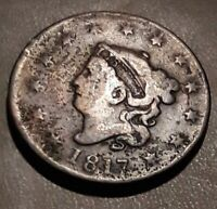 1817  US CORONET HEAD LARGE CENT COIN.