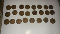 LOT OF 25 LINCOLN WHEAT CENT COINS