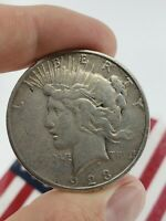 1923 S PEACE DOLLAR SILVER COIN LIBERTY $1 ONE EAGLE ROUND US 90  NO SCRAP