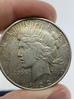 1922 D PEACE DOLLAR SILVER COIN LIBERTY $1 ONE EAGLE ROUND US 90  NO SCRAP