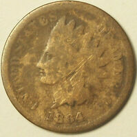 1864 INDIAN HEAD L NOT VISIBLE ROTATED REVERSE