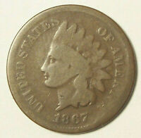 1867 INDIAN HEAD CENT CIRCULATED