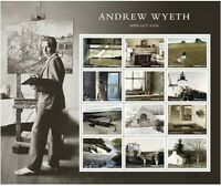ANDREW WYETH SHEET OF 12 U.S. POSTAGE FOREVER STAMPS NEW MIN