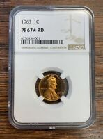 1963 PROOF MEMORIAL CENT NGC PF67 STAR RD