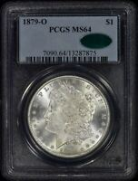 1879-O MORGAN DOLLAR PCGS MINT STATE 64 CAC - COINVESTMENTPROS