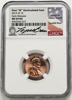 2019 W 1C LINCOLN CENT NGC MS69 RD EARLY RELEASES LYNDALL BA