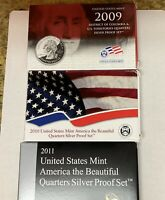 2009S 2010S 2011S MINT SILVER PROOF TERRITORY&STATE QUARTERS