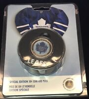 2009 TORONTO MAPLE LEAFS 50 CENTS PUCK AND COIN SET