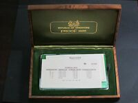 1976 SINGAPORE 6 PROOF COIN SET NO 2909 WOODEN PRESENTATION DELUXE CASE