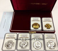 SOUTH KOREA 2002 SET 6 GOLD SILVER FIFA WORLD CUP SOCCER FOOTBAL BOX