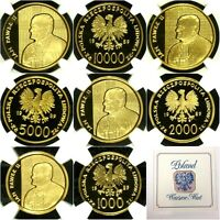 POLAND 1989 SET 4 GOLD COINS POPE JOHN PAUL II NGC PF67 69 LY