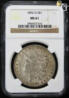 1892-O VAM-12A 9 IN HAIR R-6  VARIETY NGC MINT STATE 61 UNCIRCULATED KEY DATE COIN