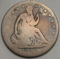 1848 O SEATED LIBERTY HALF DOLLAR UNGRADED