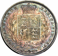 GREAT BRITAIN: VICTORIA HALFCROWN 1846 TOP GRADED BY PCGS MS66