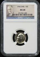 1966 SMS ROOSEVELT DIME NGC MS 68