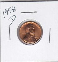 LINCOLN CENT 1958D BU