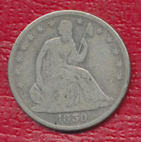 1859 O SEATED LIBERTY SILVER HALF DOLLAR  CIRCULATED