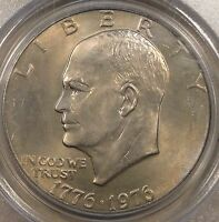 1976 T2 EISENHOWER DOLLAR PCGS MS64 OLD GREEN HOLDER PURCHASED LATE 90'S