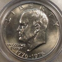1976 T1 EISENHOWER DOLLAR PCGS MS64 OLD GREEN HOLDER PURCHASED LATE 90'S