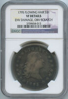 1795 BUST DOLLAR FLOWING HAIR VF DETAILS NGC  LOOK!