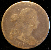 1801 S 224  DRAPED BUST LARGE CENT